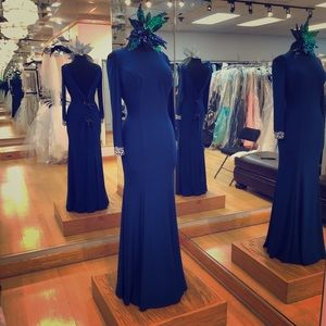 Dresses & Skirts - Long royal blue jersey dress